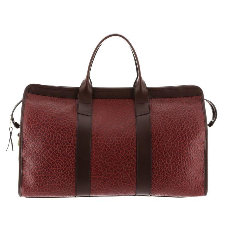 Signature Duffle - Maroon/Chocolate - Shrunken Grain Leather