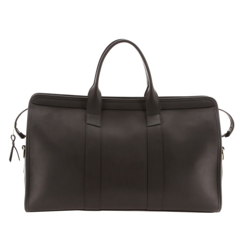 Signature Duffle - Matte Black/Red Interior - Smooth Tumbled Leather