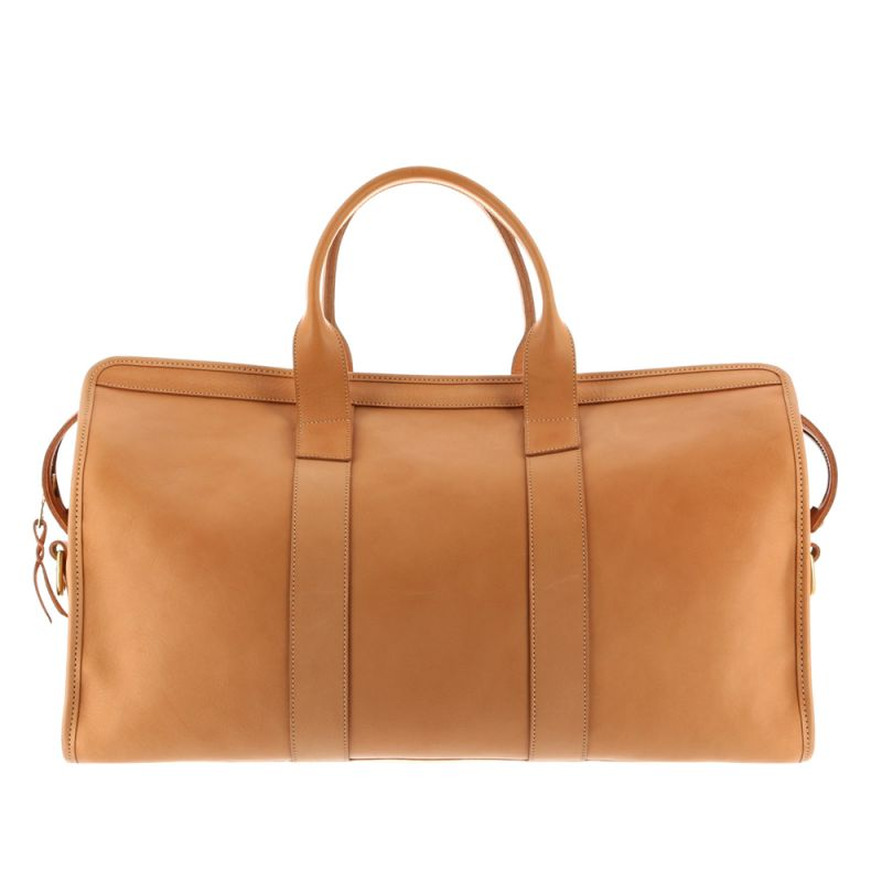 Signature Duffle - Natural - Tumbled Grain Leather