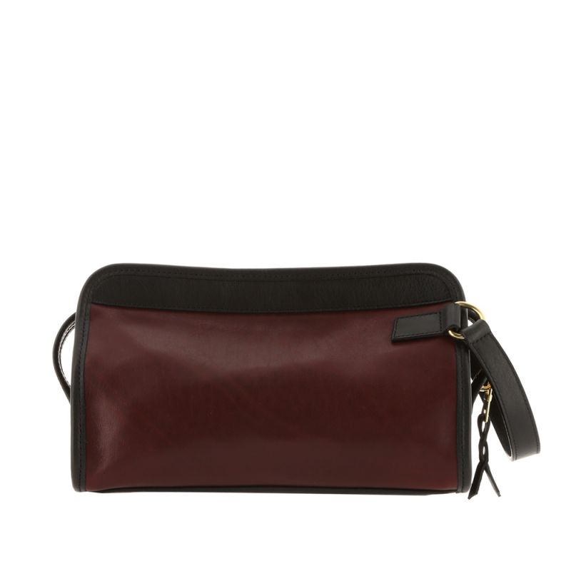 Small Travel Kit - Oxblood/Black - Smooth Tumbled Leather