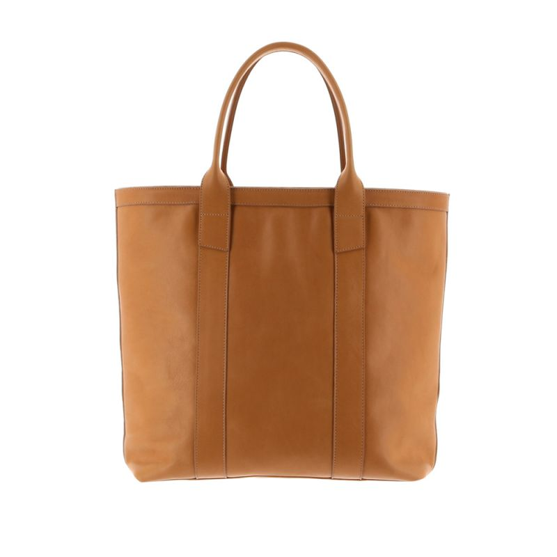 Tall Tote - Natural - Smooth Tumbled Leather