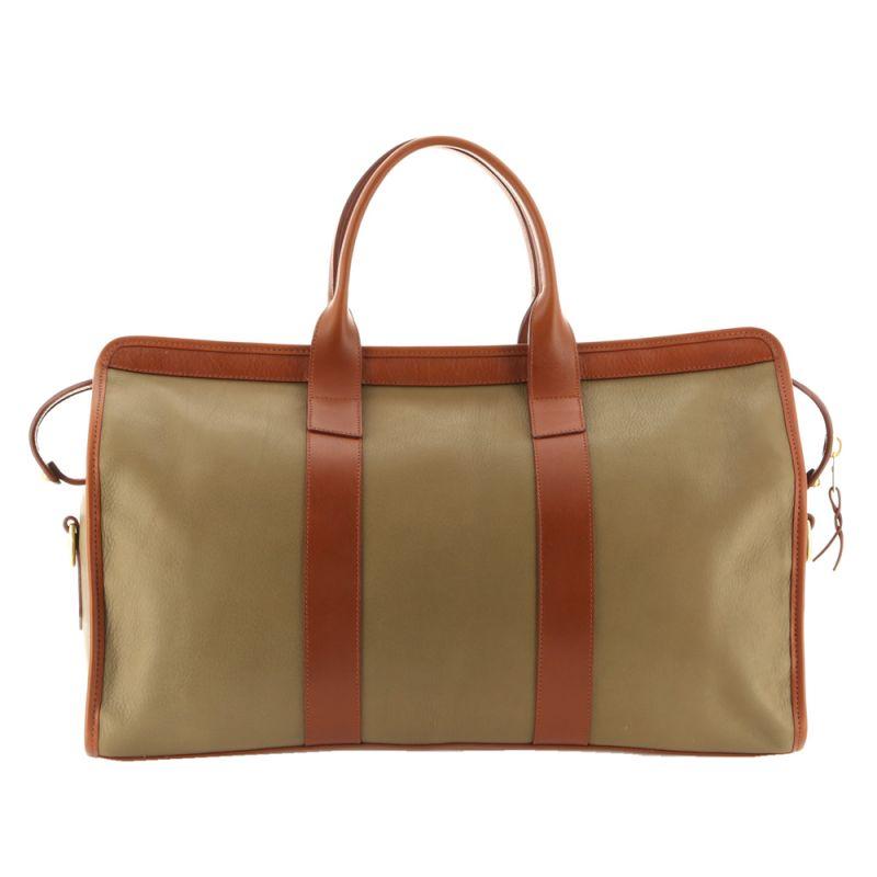 Signature Duffle - Moss Green/Cognac - Soft Tumbled Leather