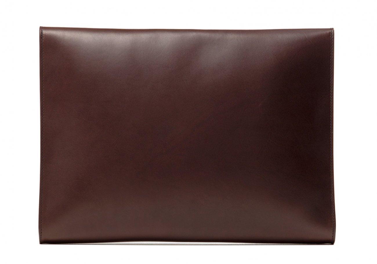 Wrap Around Leather Lock Portfolio Chocolate1 1