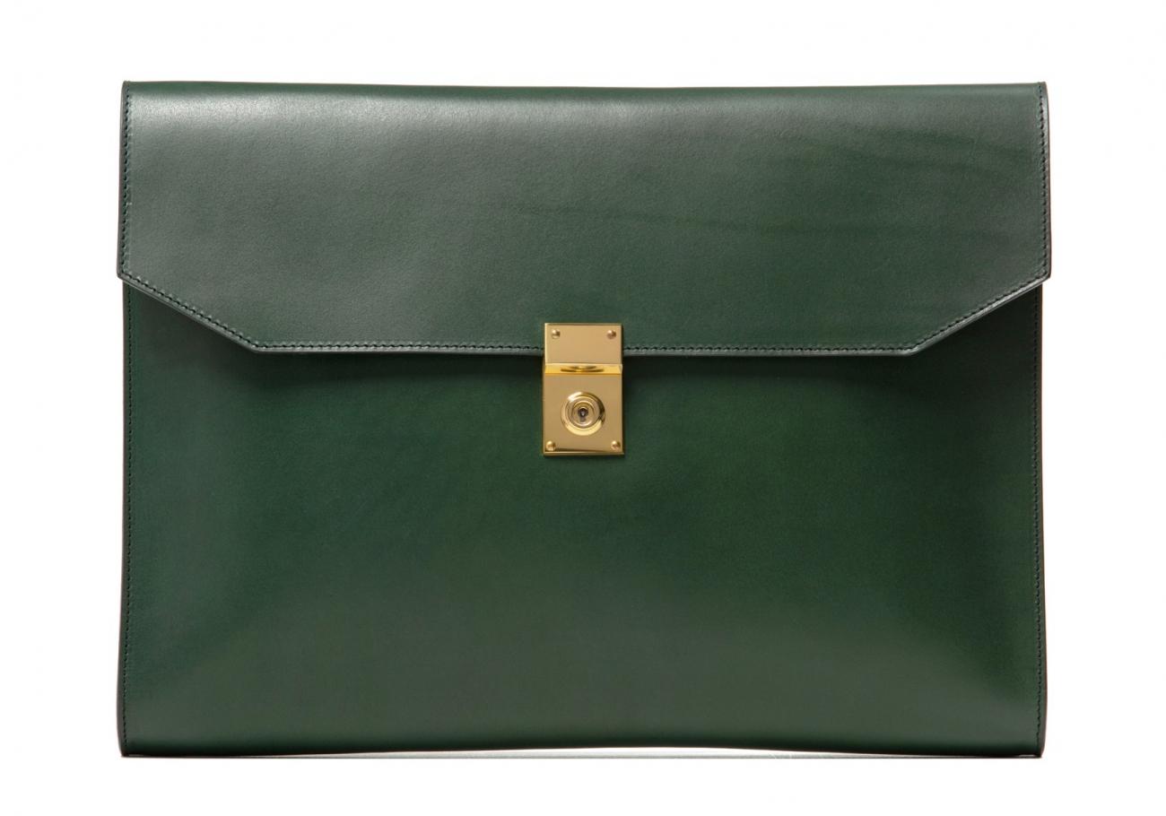 Wrap Around Leather Lock Portfolio Green3 1 1