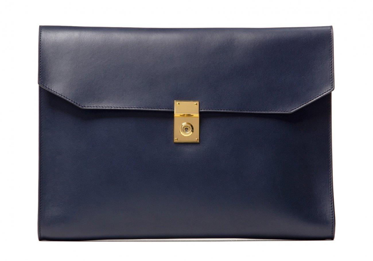 Wrap Around Leather Lock Portfolio Navy3 1 1
