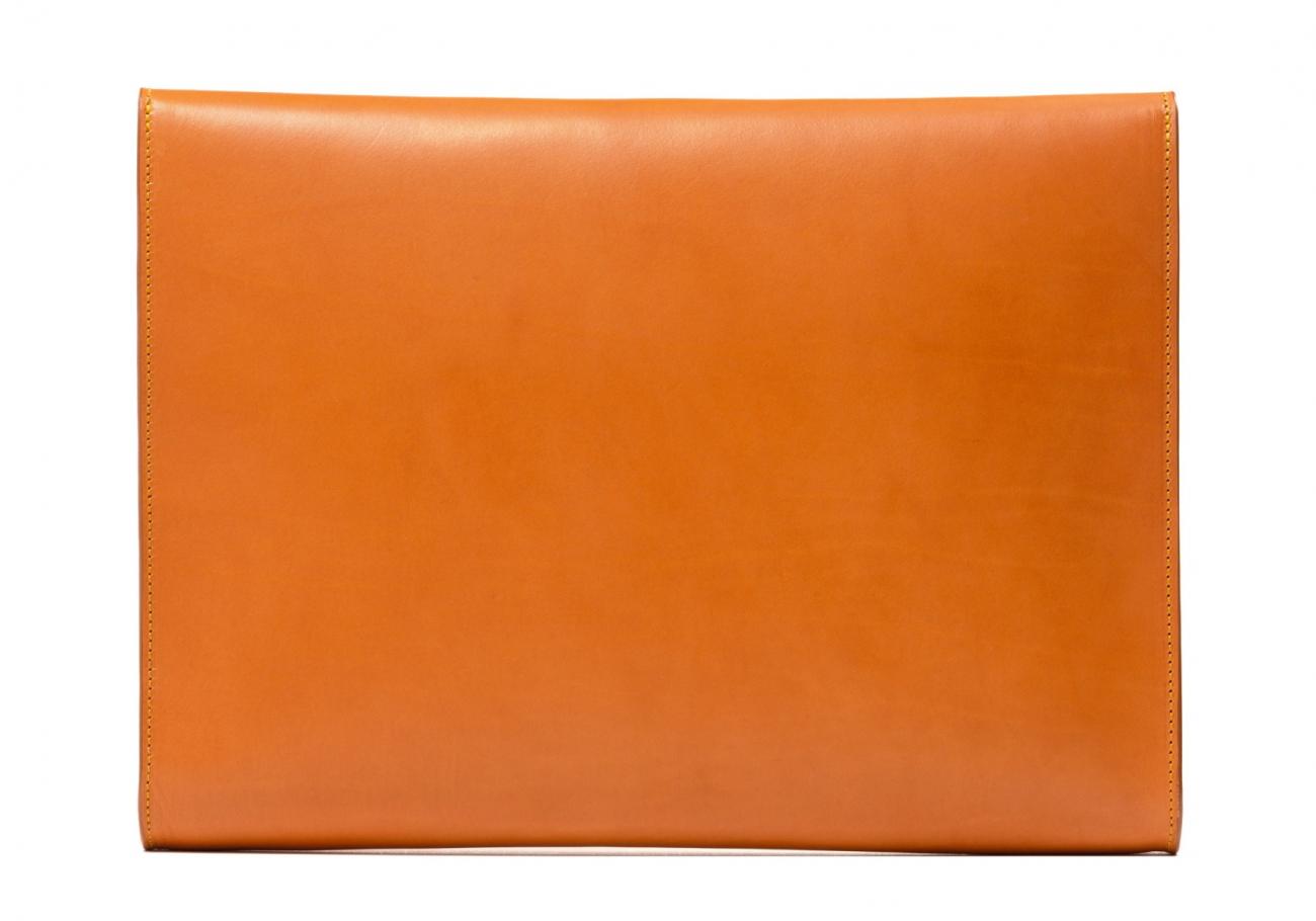 Wrap Around Leather Lock Portfolio Tan2 2