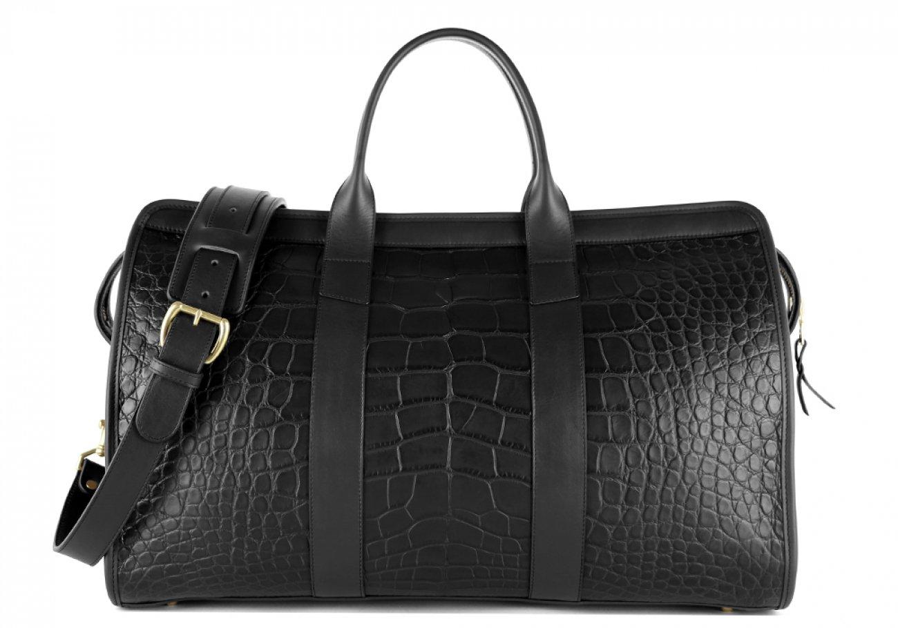Alligator Duffle Bag Frank Clegg Signature Travel Duffle Black 3