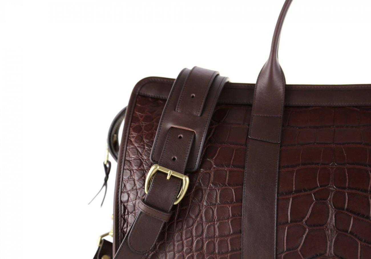 Alligator Duffle Bag Frank Clegg Signature Travel Duffle Chocolate 11