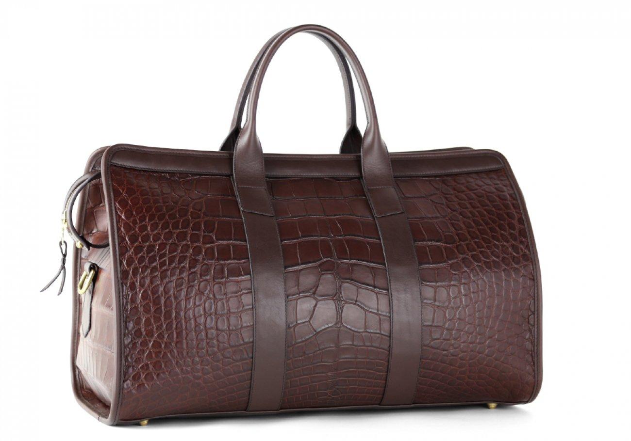 Alligator Duffle Bag Frank Clegg Signature Travel Duffle Chocolate 6