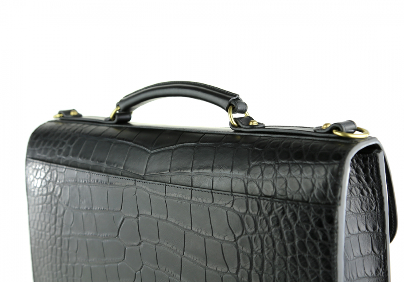 Alligator Lock Briefcase Frank Clegg Lock Briefcase Black 12