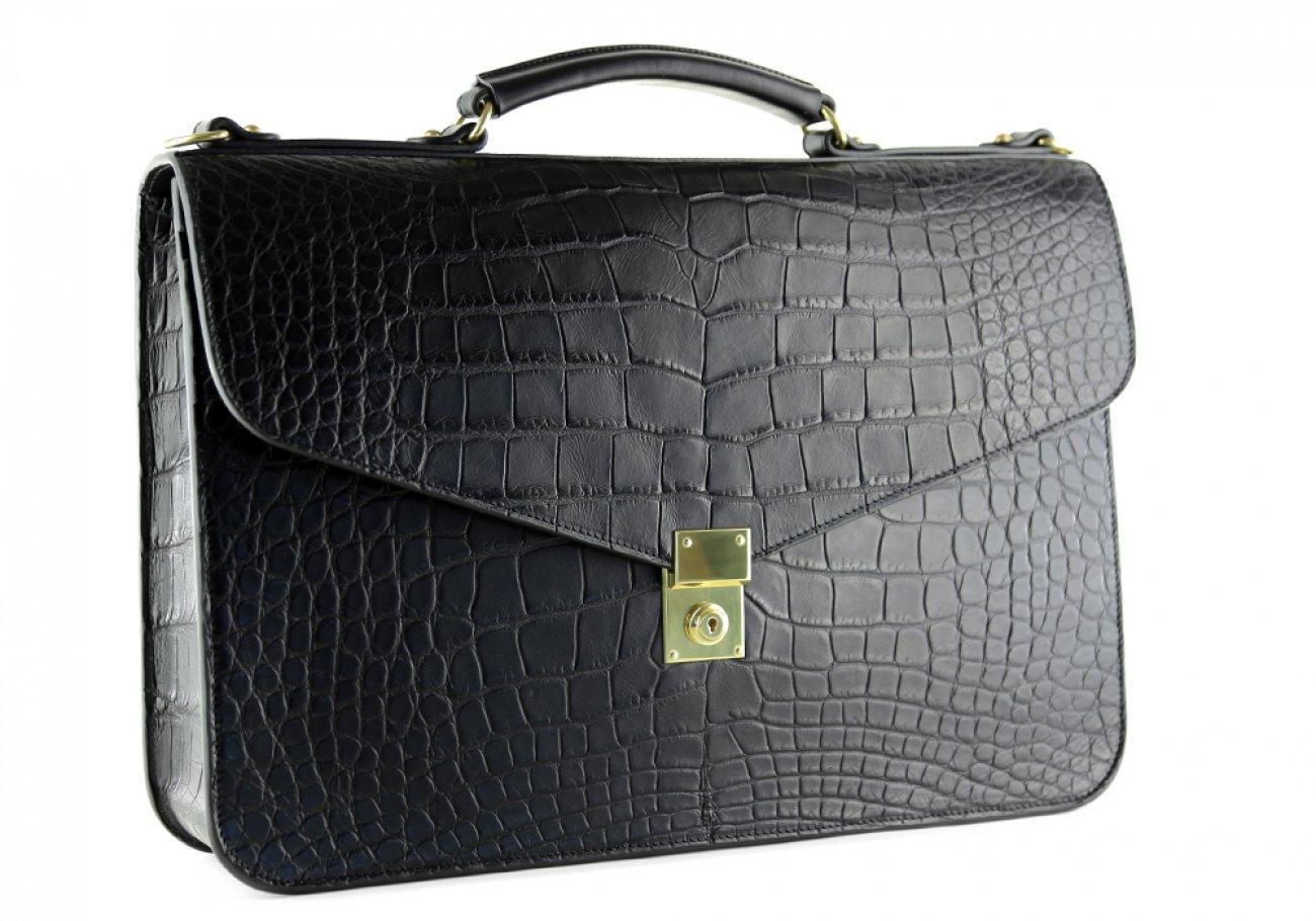 Alligator Lock Briefcase Frank Clegg Lock Briefcase Black 3