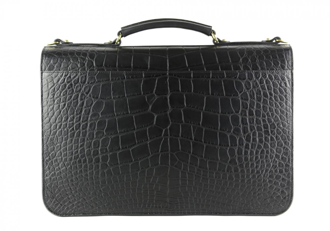 Alligator Lock Briefcase Frank Clegg Lock Briefcase Black 6