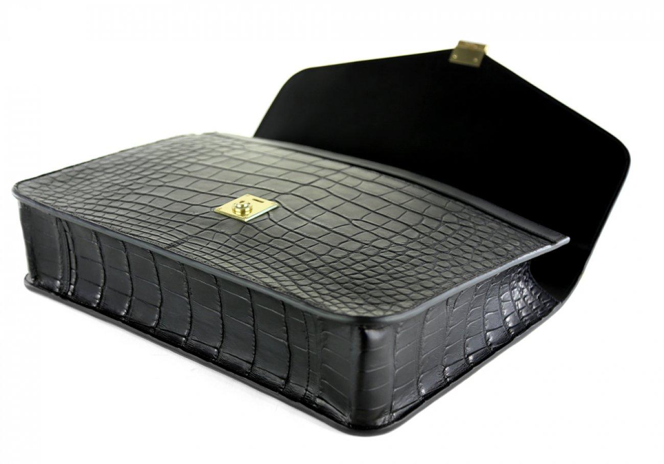 Alligator Lock Briefcase Frank Clegg Lock Briefcase Black 7