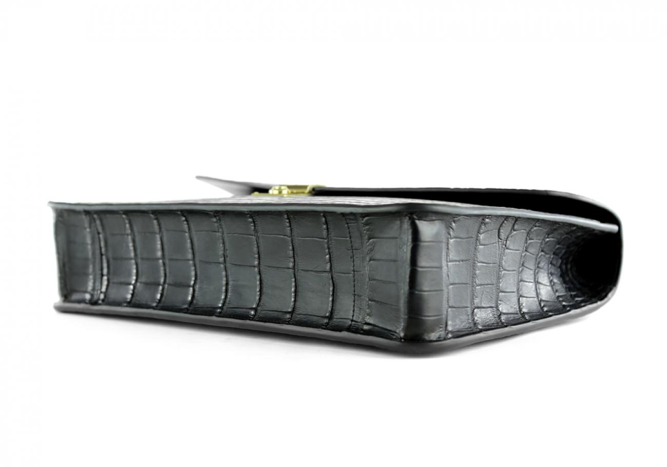 Alligator Lock Briefcase Frank Clegg Lock Briefcase Black 8