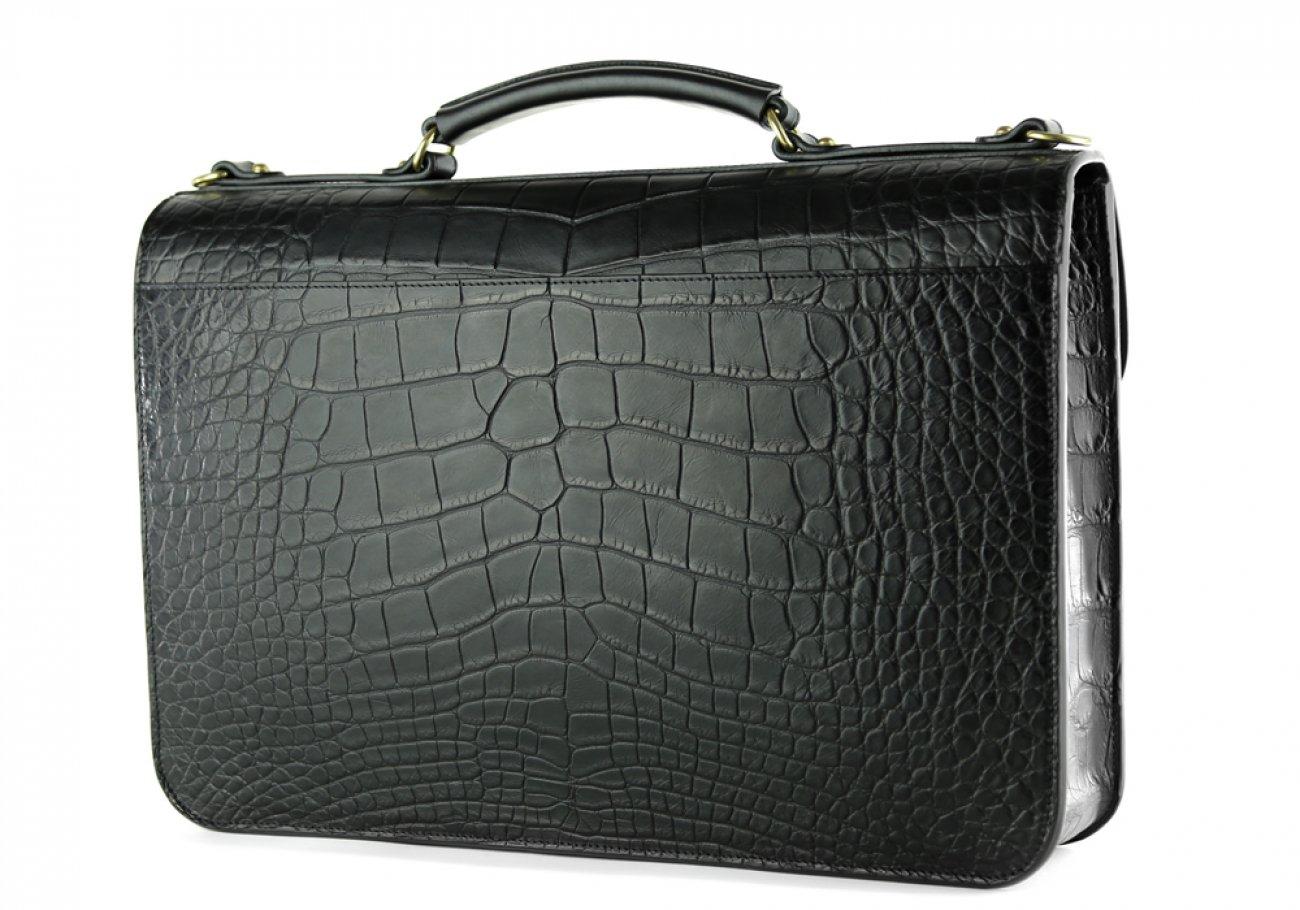 Alligator Lock Briefcase Frank Clegg Lock Briefcase Black 9