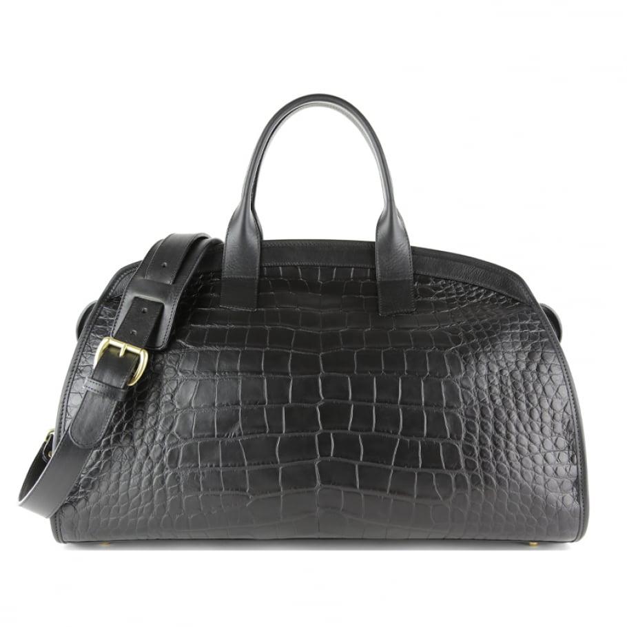 Alligator Travel Duffle Bag Frank Clegg Aiden Duffle Black 1 Final