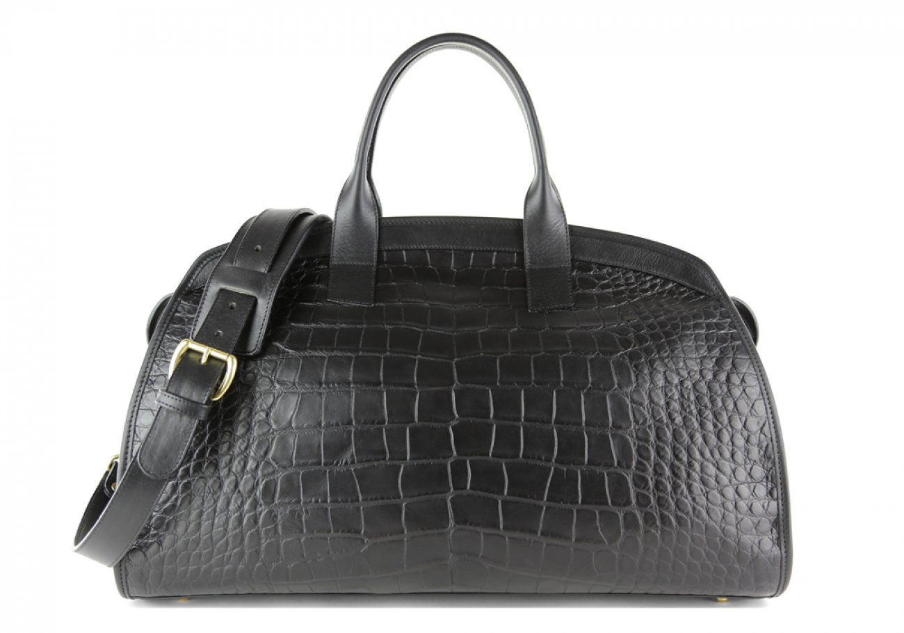 Alligator Travel Duffle Bag Frank Clegg Aiden Duffle Black 1