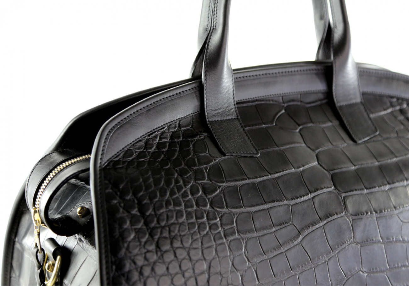 Alligator Travel Duffle Bag Frank Clegg Aiden Duffle Black 10