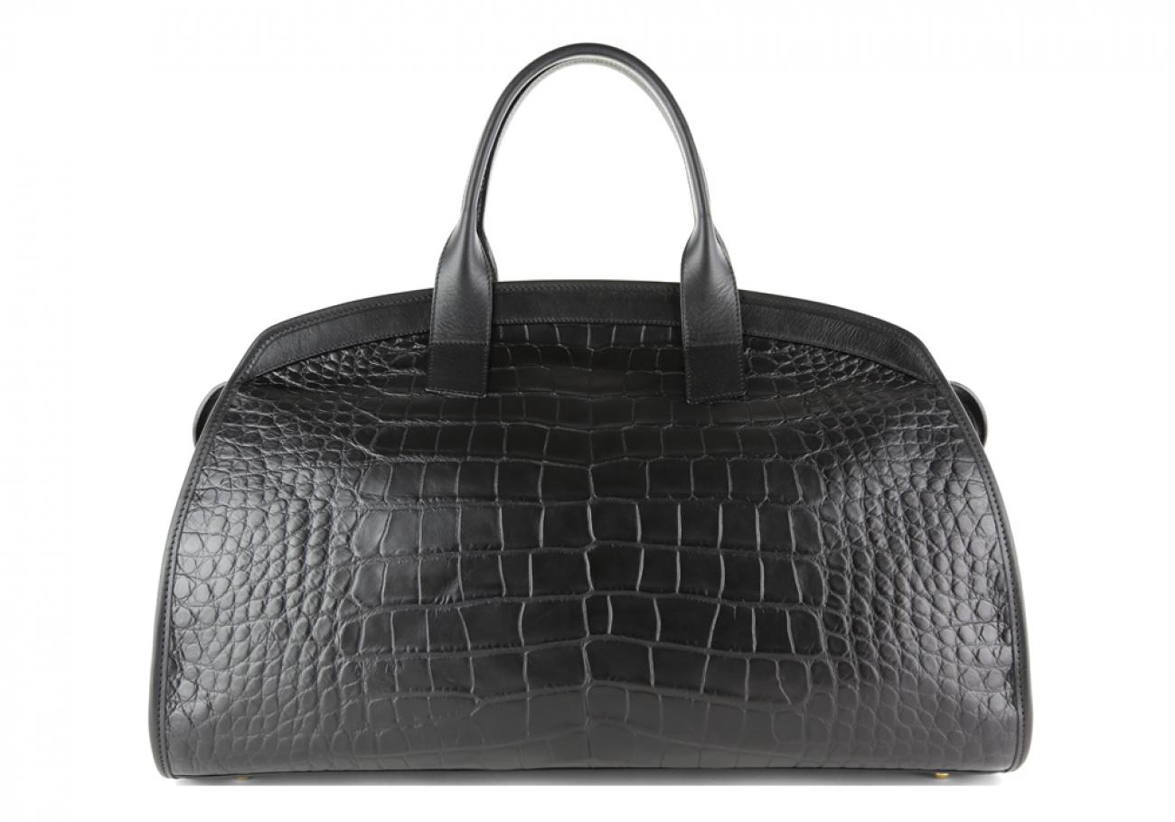 Alligator Travel Duffle Bag Frank Clegg Aiden Duffle Black 2