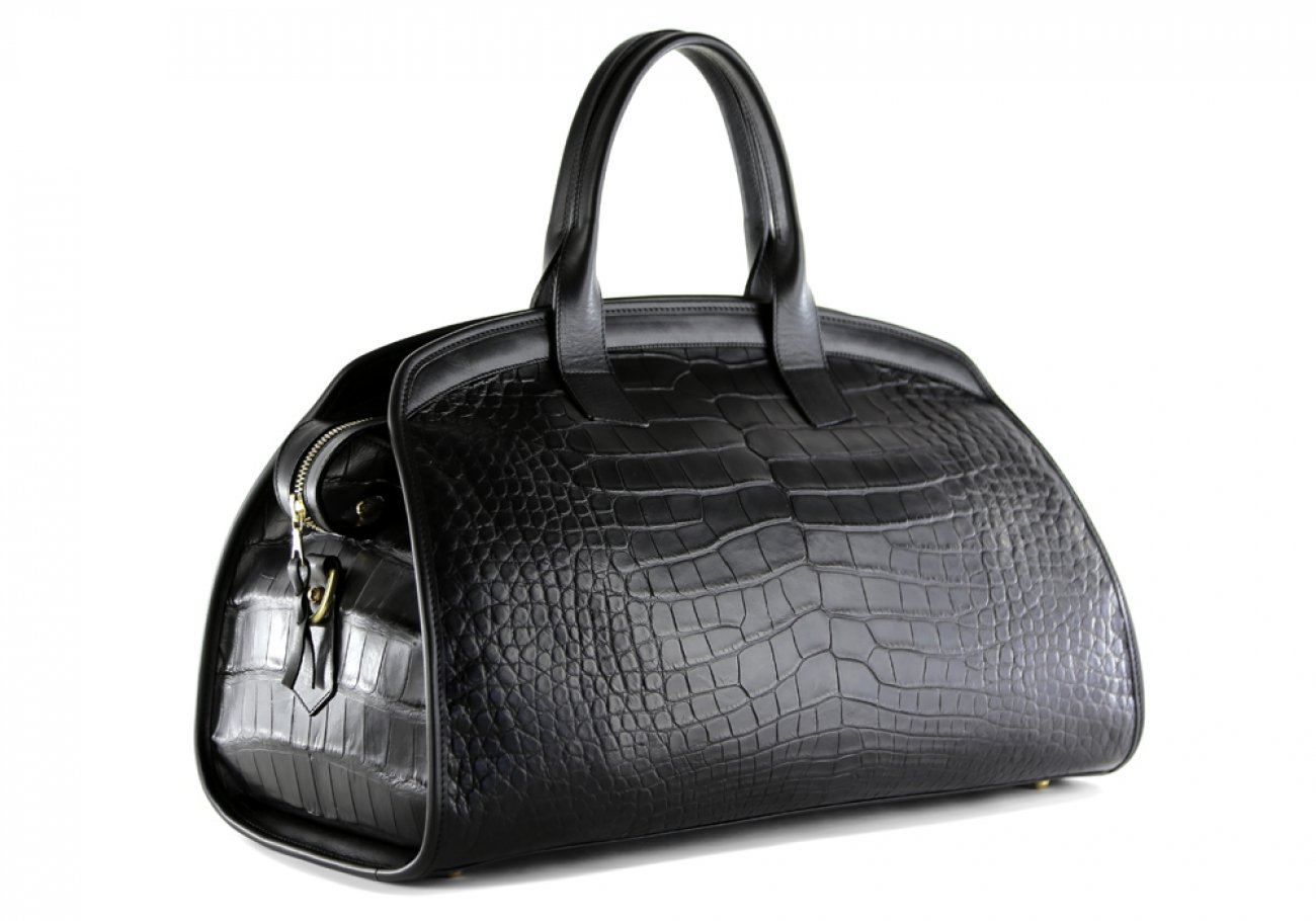 Alligator Travel Duffle Bag Frank Clegg Aiden Duffle Black 7