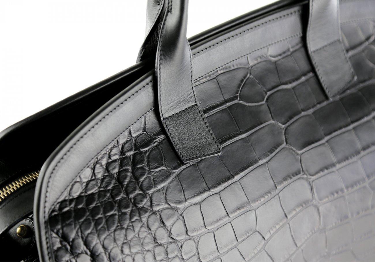 Alligator Travel Duffle Bag Frank Clegg Aiden Duffle Black 9