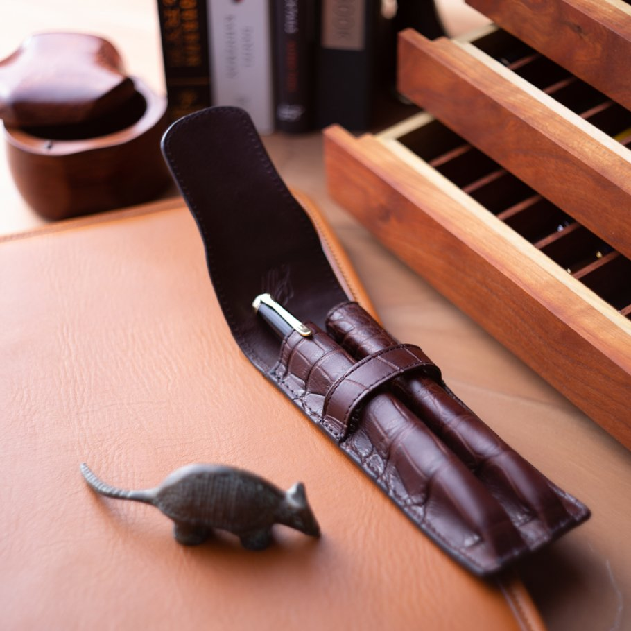 Alligator Double Pen Case 1
