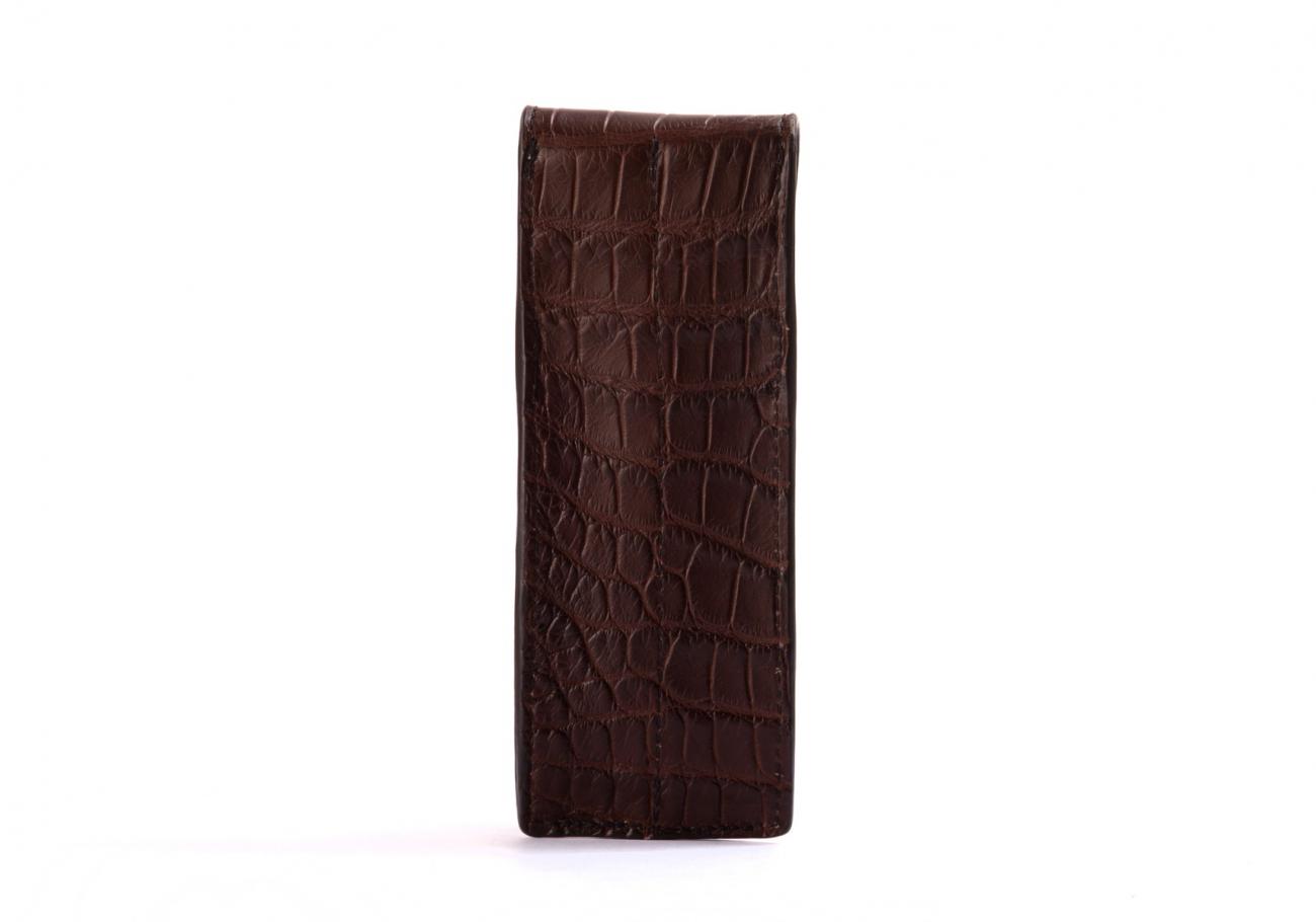 Alligator Fountian Pen Case Brown4 1