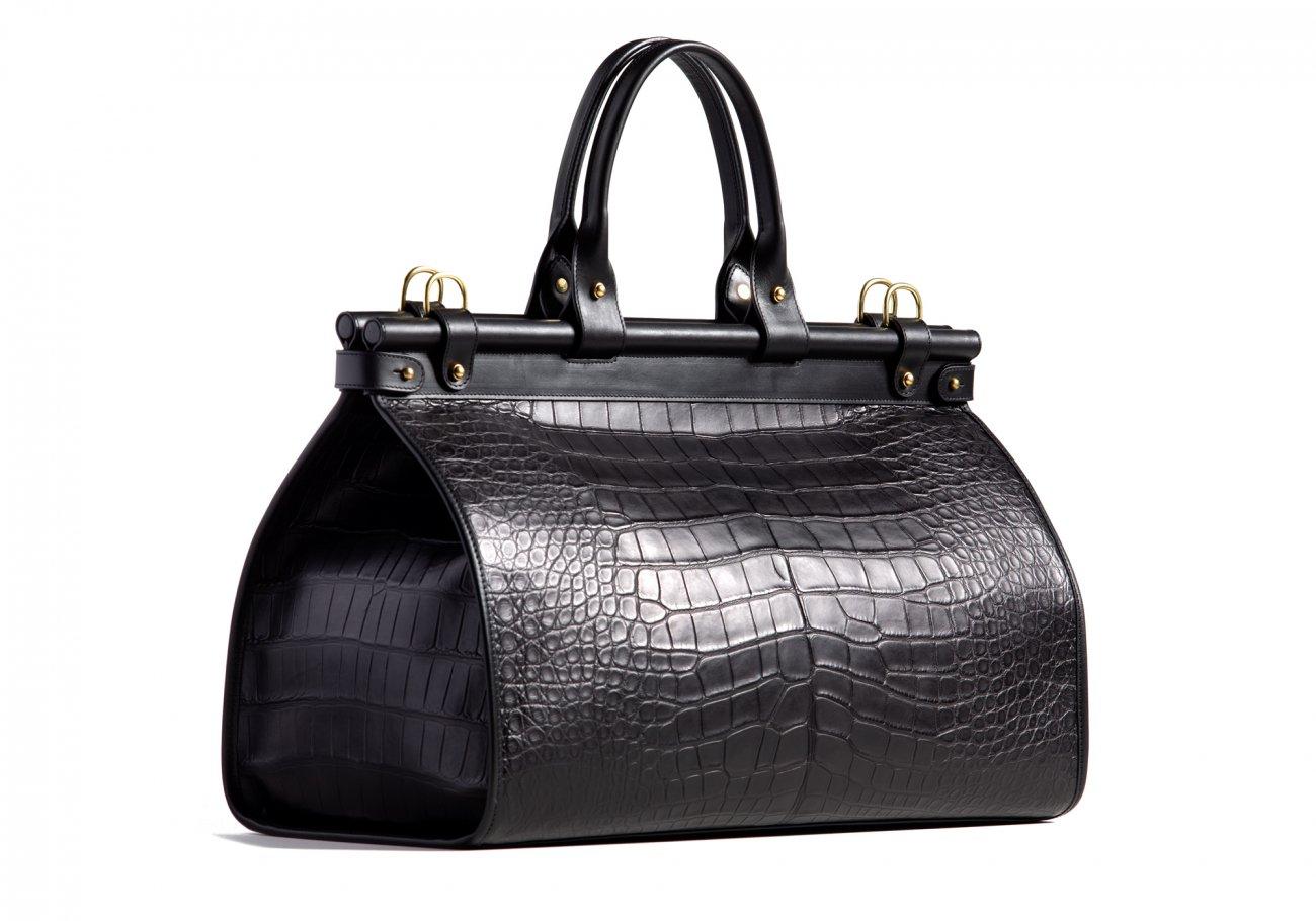 American Alligator Carpet Bag Black1