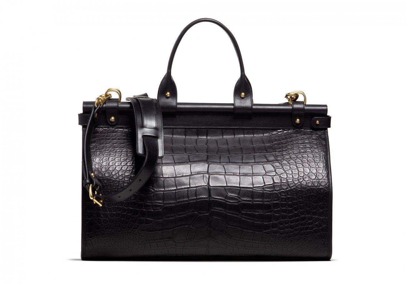 American Alligator Carpet Bag Black4