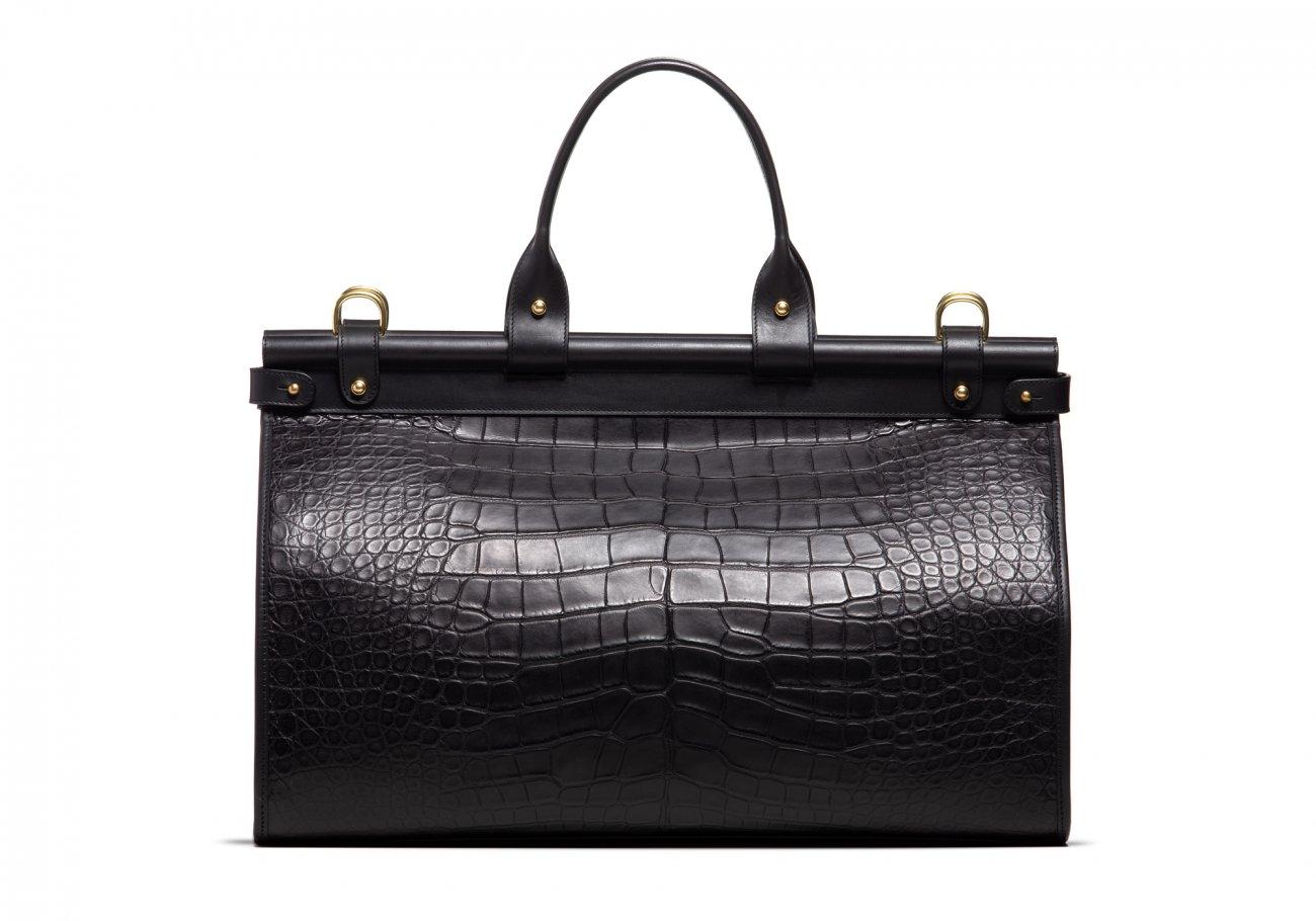 American Alligator Carpet Bag Black5