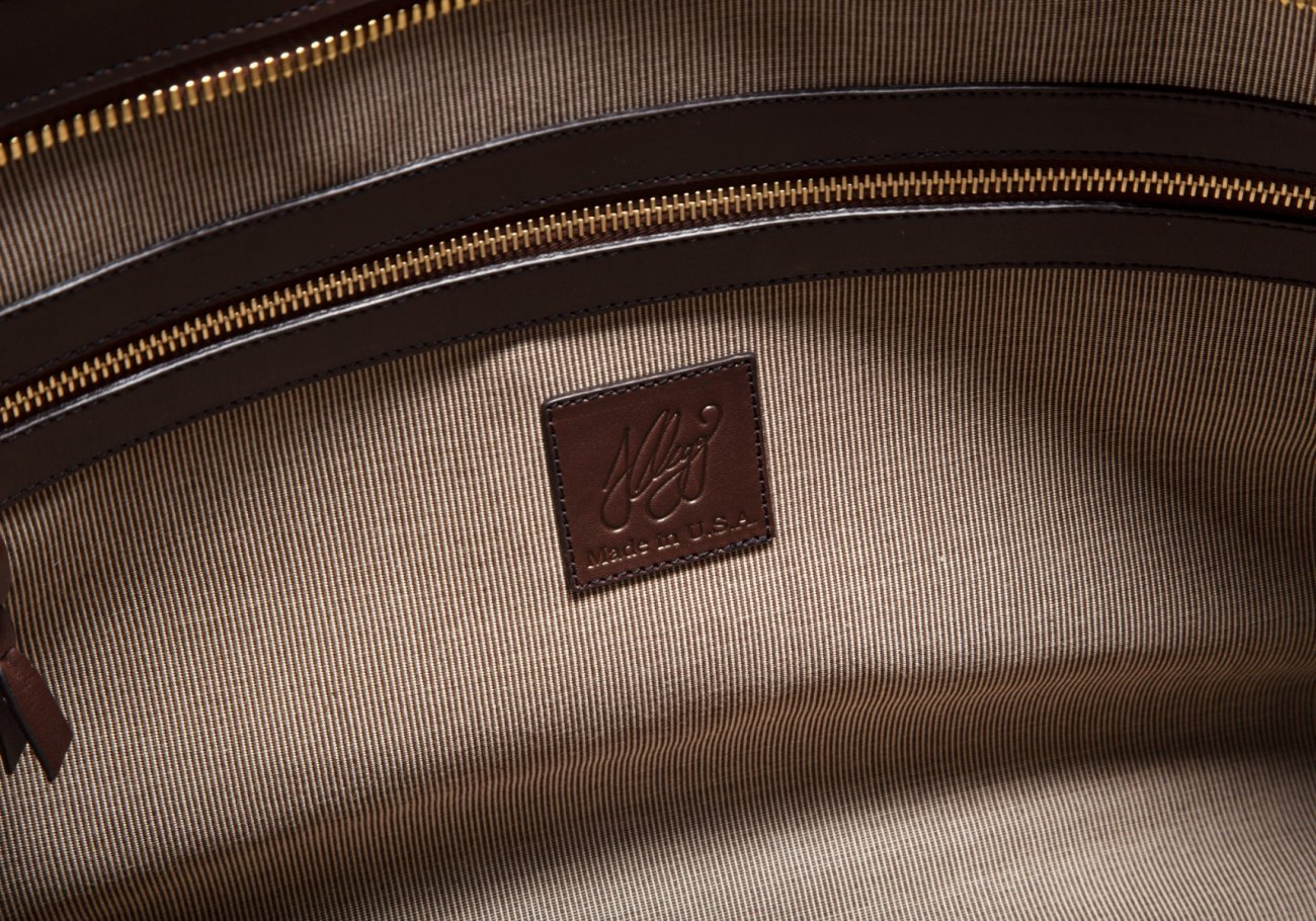 Bison Leather Duffle Bag Chocolate 7