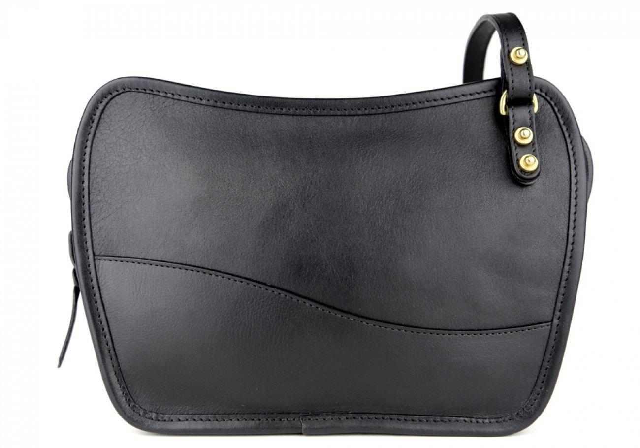 Black Lilly Shoulder Bag Frank Clegg Made In Usa 1