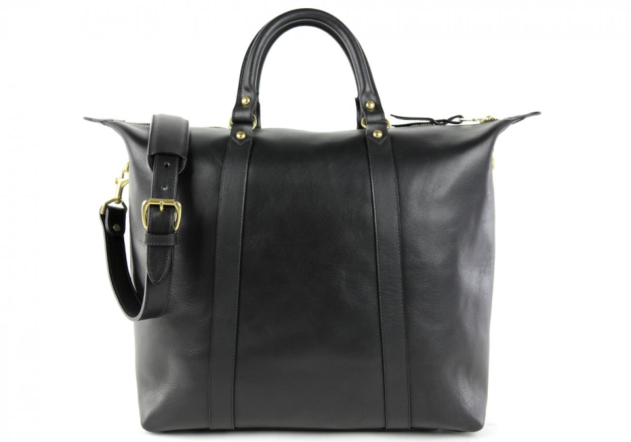 Black Zipper Tote Bag 1