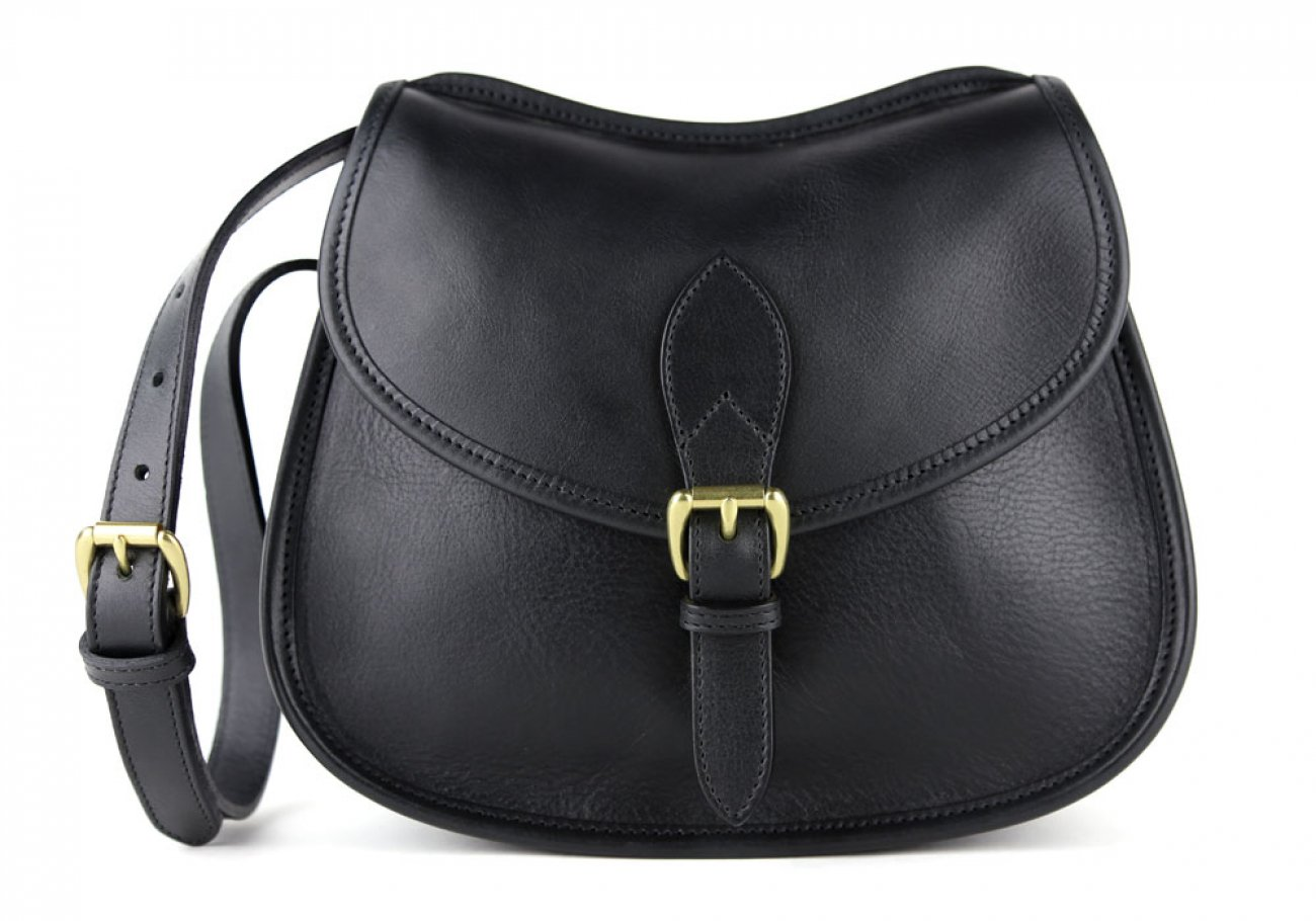 Black Abby Shoulder Bag Frank Clegg Made In Usa 1