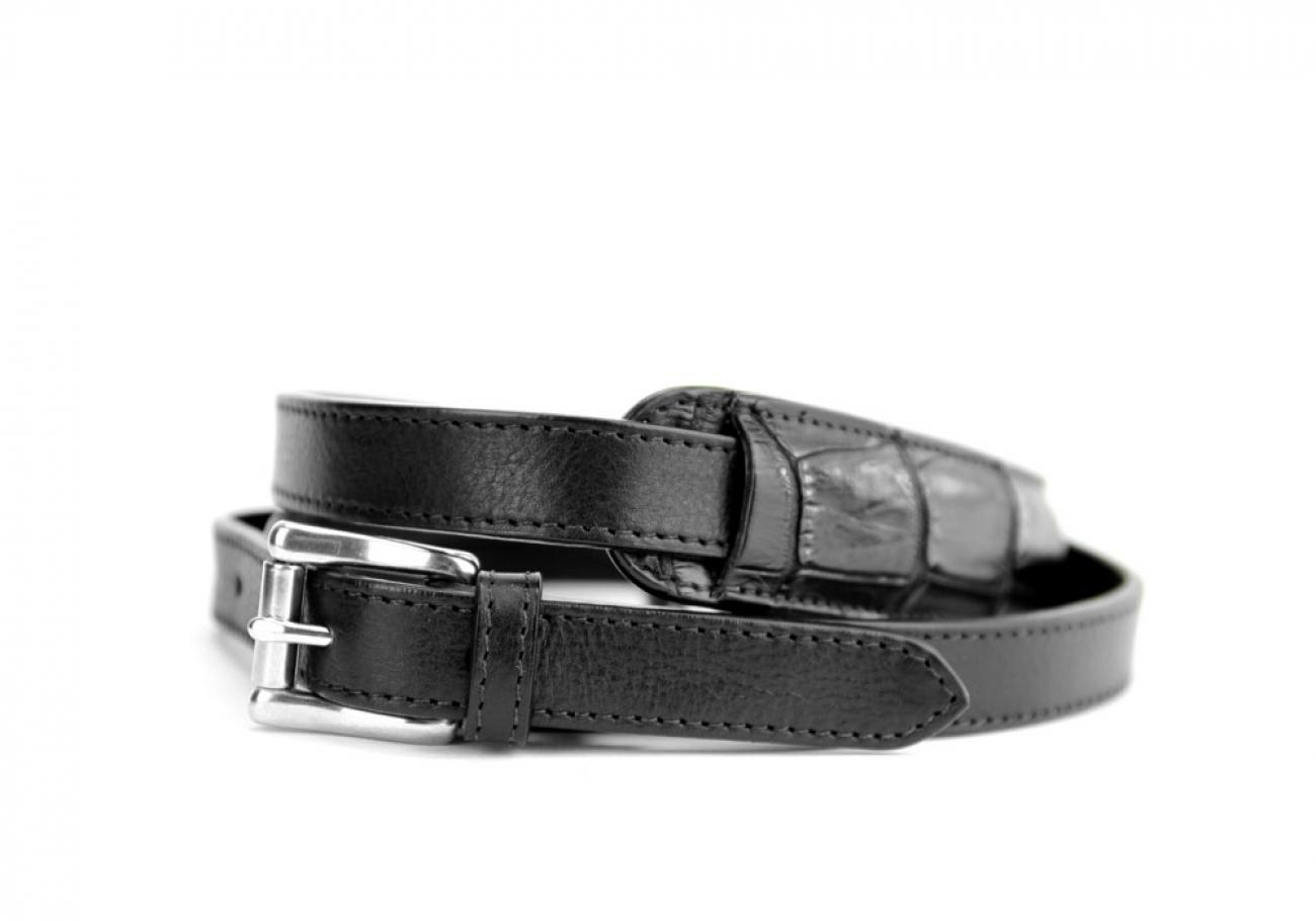 Black American Alligator Zipper Tote Bag Frank Clegg Made In Usa 6