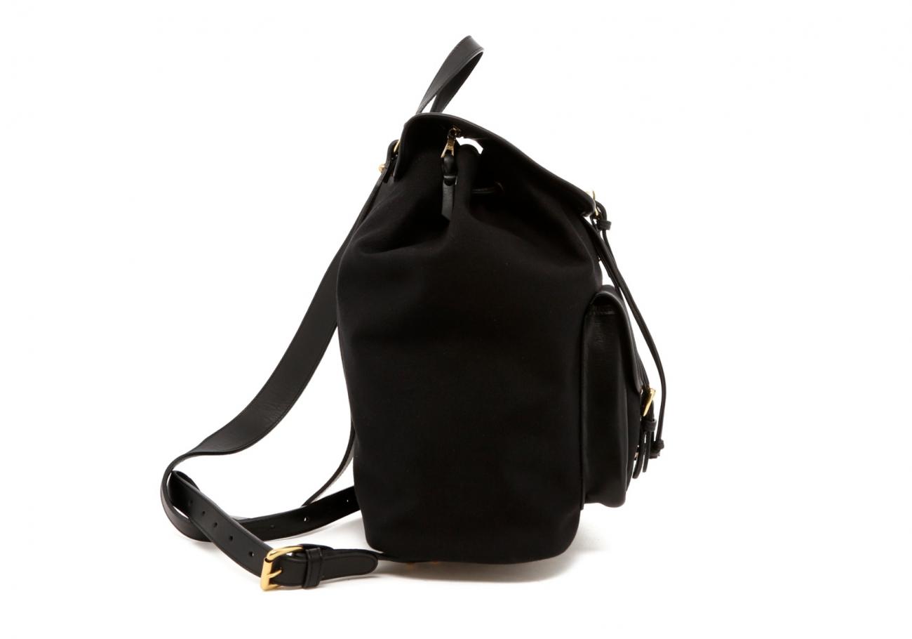 Black Canvas Charcoal Herringbone Interior Classic Backpack D