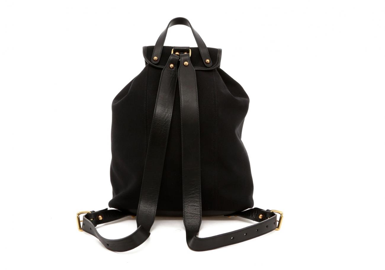 Black Canvas Charcoal Herringbone Interior Classic Backpack E