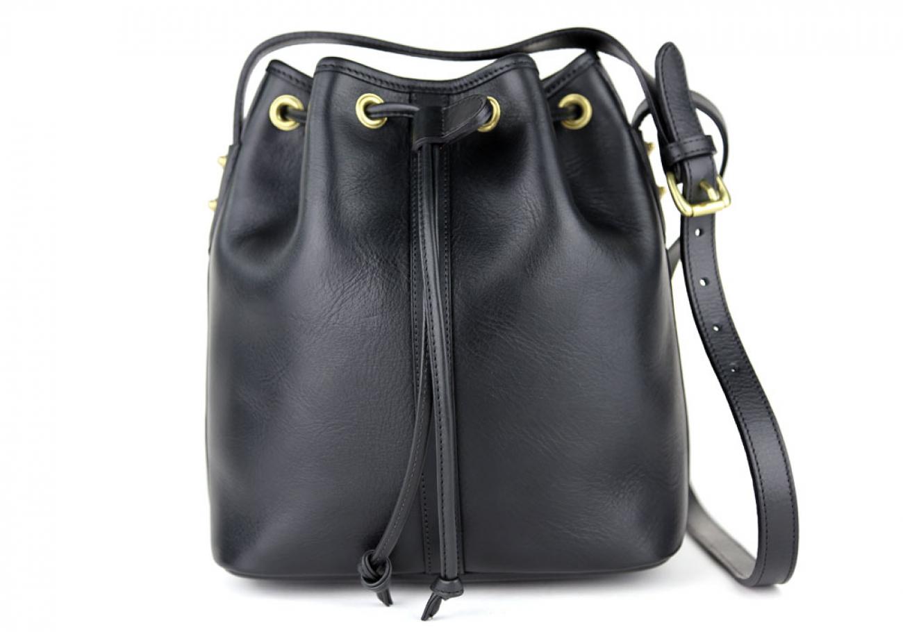 Black Cara Draw String Bag Frank Clegg Made In Usa 1