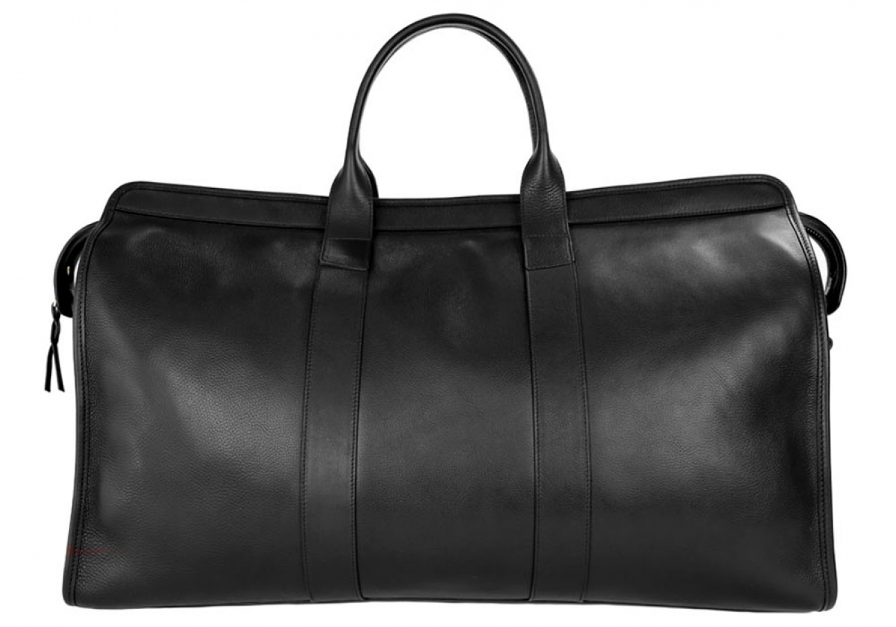 Black Compass Leather Duffle Bag Frank Clegg Made In Usa 1