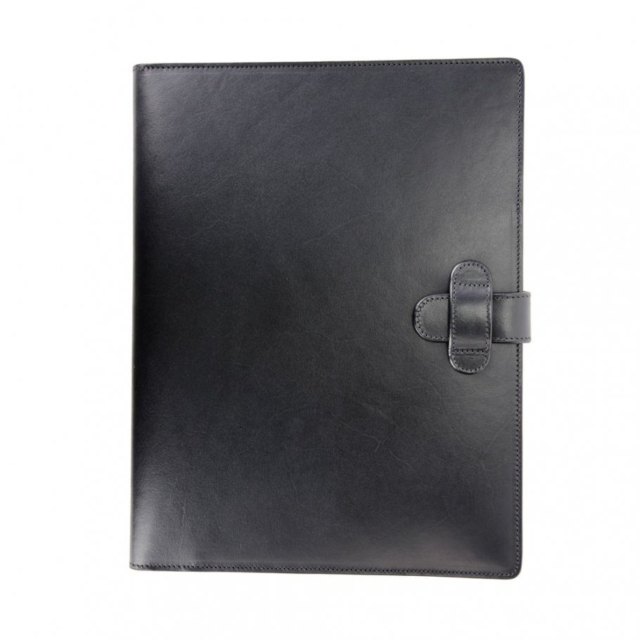 Black Harness Belting Leather Note Pad Frank Clegg Made In Usa 1
