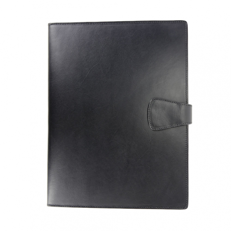 Black Harness Belting Leather Note Pad Frank Clegg Made In Usa 2