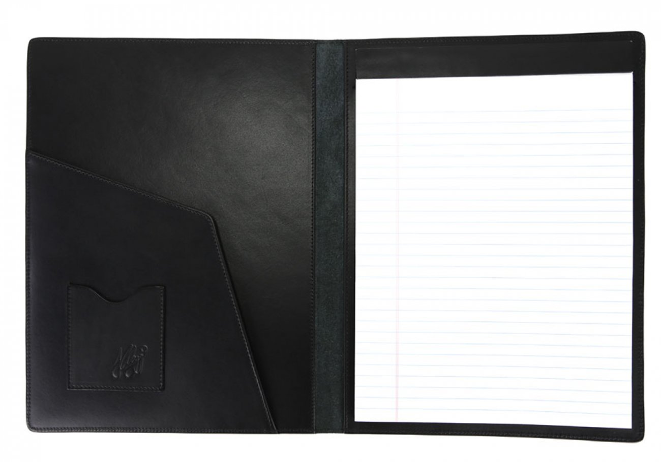 Black Harness Belting Leather Note Pad Frank Clegg Made In Usa 3