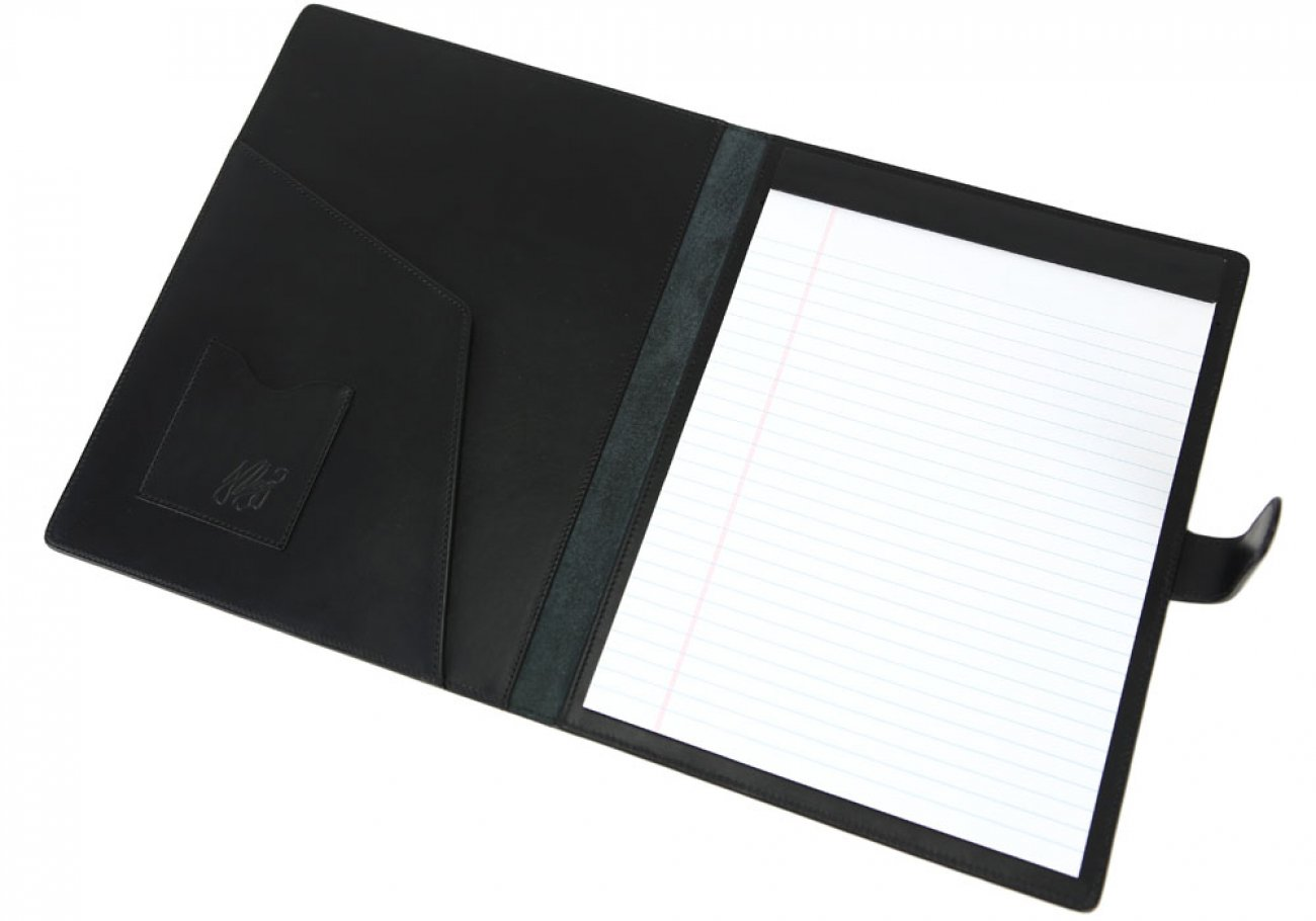 Black Harness Belting Leather Note Pad Frank Clegg Made In Usa 5
