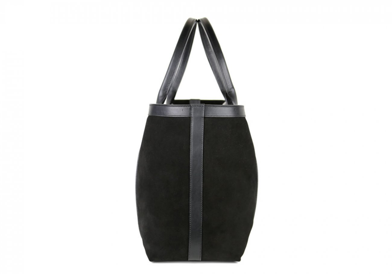 Black Large Suede Tote Made In Usa Frank Clegg 3
