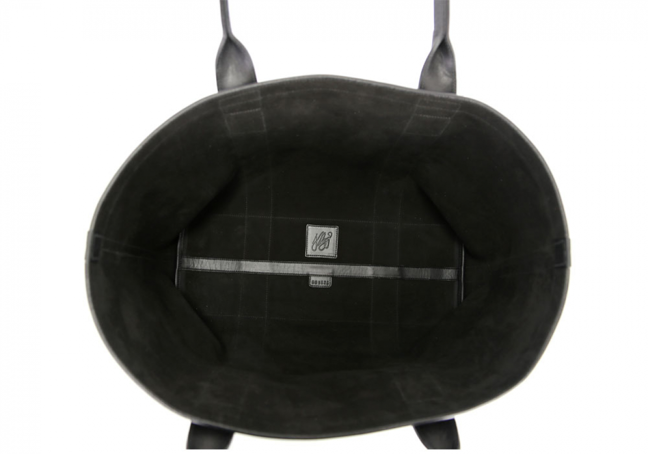 Black Large Suede Tote Made In Usa Frank Clegg 4