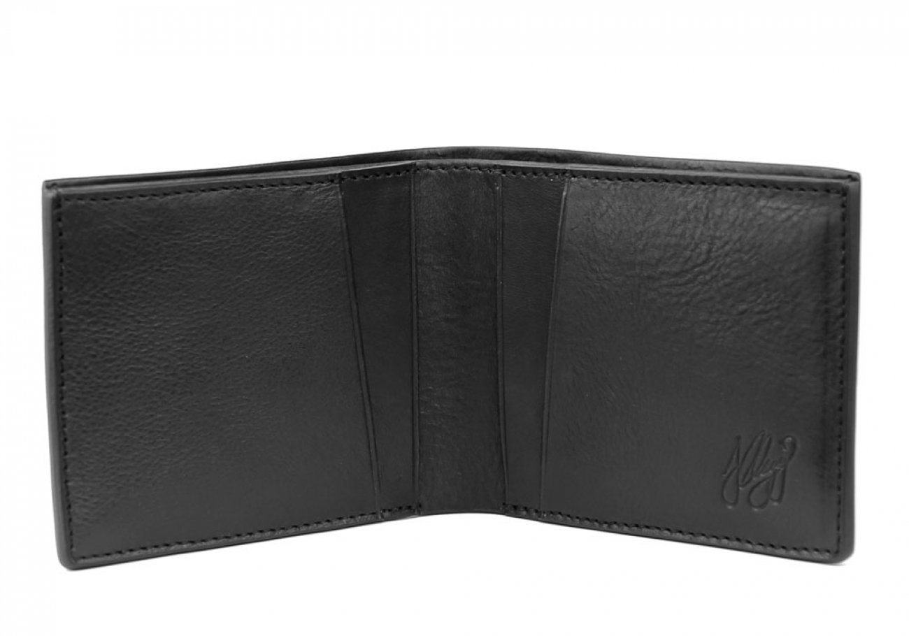 Black Leather Bifold Wallet  Frank Clegg Made In Usa 1 1