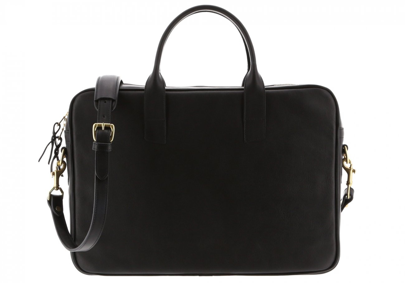 Black Leather Computer Briefcase Frank Clegg 1 1