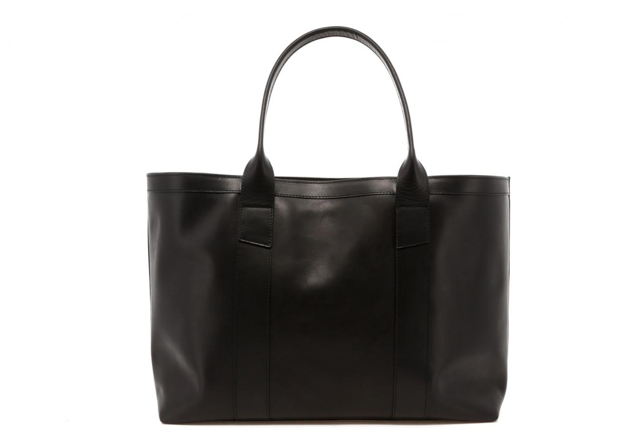 Black Leather Lg Tote B
