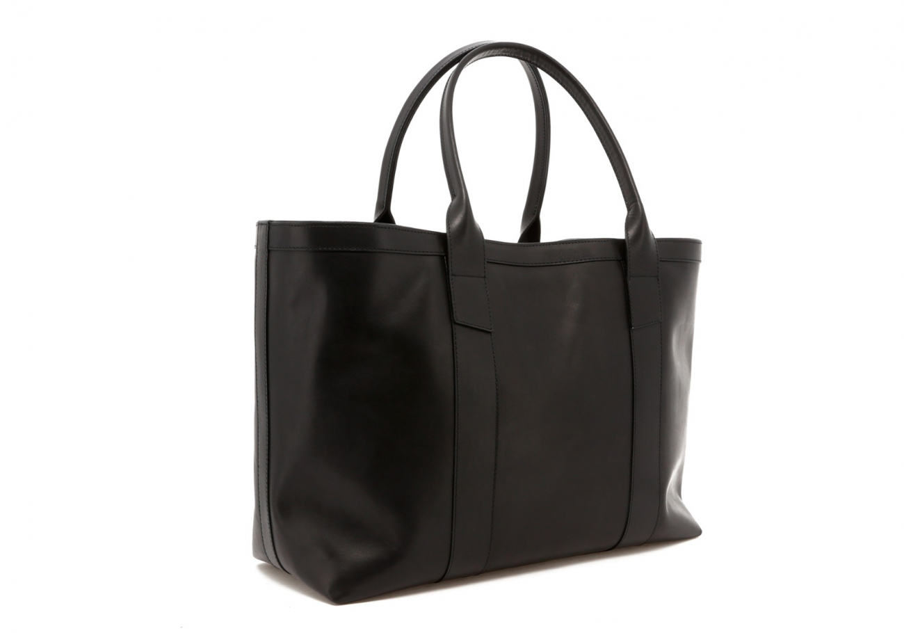 Black Leather Lg Tote C