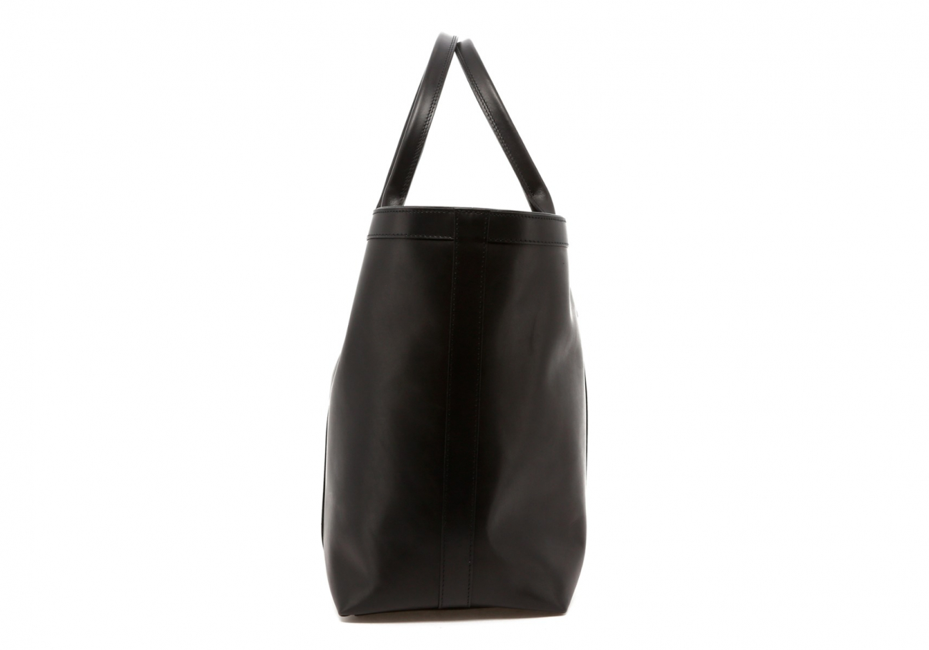 Black Leather Lg Tote D